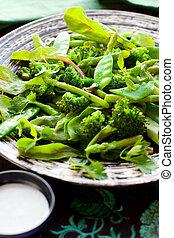 salad with broccoli; asparagus,green pea - vegetable salad...