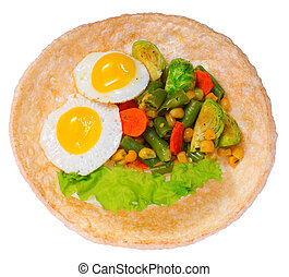 Vegetable salad with eggs