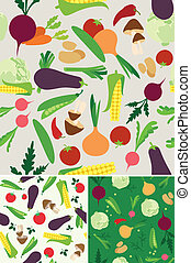 vegetable seamless background - Vegetable seamless  pattern