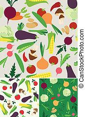 vegetable seamless background - Vegetable seamless  pattern