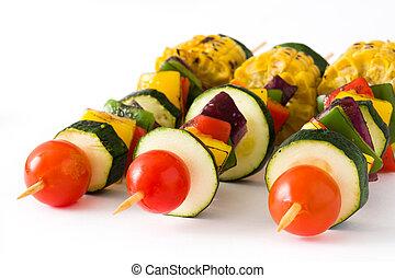 Vegetable skewers