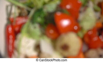 Vegetable stew on the Christmas table - Vegetable stew on...
