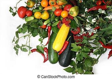 Vegetable still life - Full frame of a broad variety of...