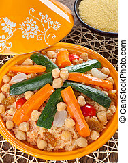 Vegetable Tajine with cous cous