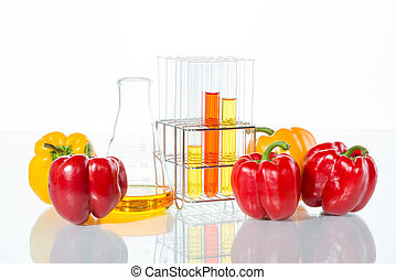 vegetable test, Pepper, Genetic Modification, Scientific Experiment