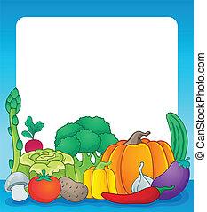 Vegetable theme frame 2