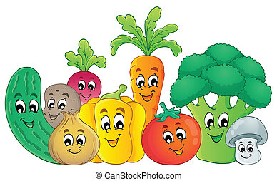 Vegetable theme image 2 - eps10 vector illustration.