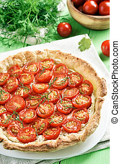 Vegetable tomato pie