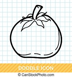 vegetable Tomatoes color doodle