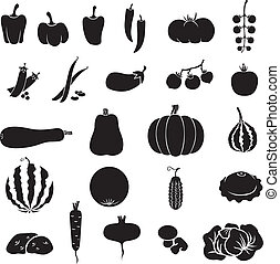 Vegetables - A set of images of different vegetables