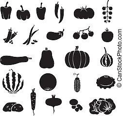 Vegetables - A set of images of different vegetables