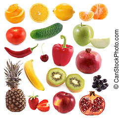 Vegetables and fruit collage