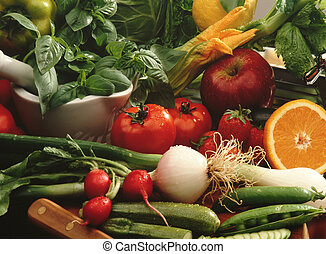 Vegetables and fruit - mediterranean diet