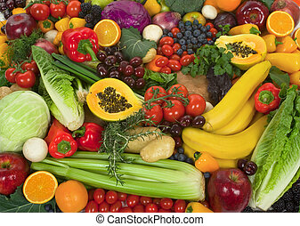 vegetables, and, fruits