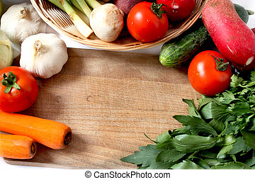 vegetables and greens frame