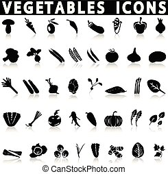 vegetables and herbs icons