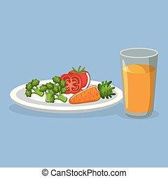 vegetables and juice delicious food breakfast menu
