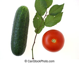 Vegetables and leaves - 1