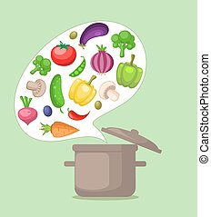 Vegetables and pan