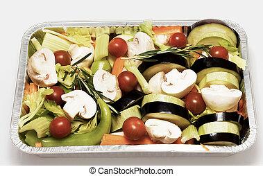 vegetables., apparecchiato