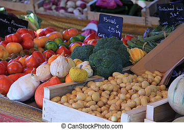 Vegetables at a French market