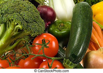 vegetables background - close-up of fresh vegetables for ...