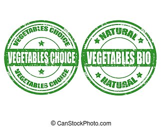 Vegetables choice-stamps