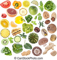 Vegetables Collage (icon size) isolated on white background