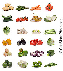 vegetables., collection