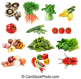 Vegetables Collection - Collection of vegetables, isolated...