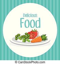 vegetables delicious food breakfast menu