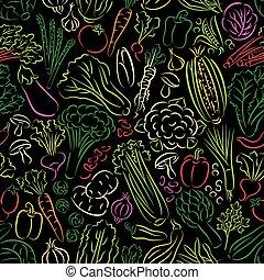 Vegetables Doodle Pattern