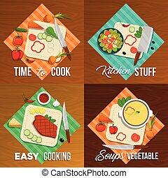 Vegetables Flat Icon Set