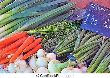 Vegetables, food market