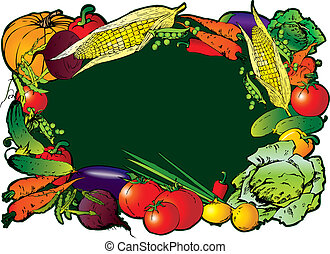 Vegetables. - Frame of the different vegetables. Sample...