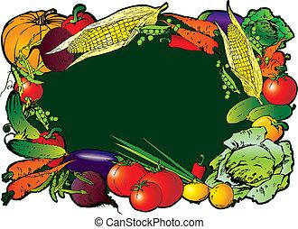 Vegetables. - Frame of the different vegetables. Sample...