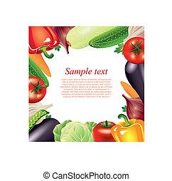 Vegetables frame vector background