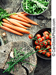 Vegetables - Fresh organic vegetables. Food background....