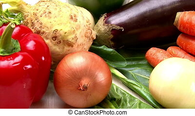 Vegetables, healthy eating - Vegetables, camera dolly,...