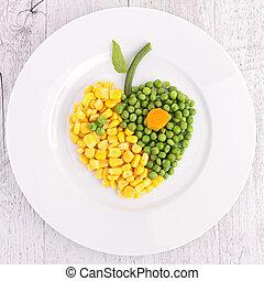 vegetables heart shape