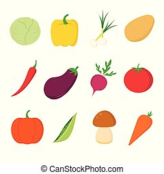 Vegetables icons on white background for graphic and web design, Modern simple vector sign. Internet concept. Trendy symbol for website design web button or mobile app.