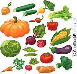 Vegetables Icons Set