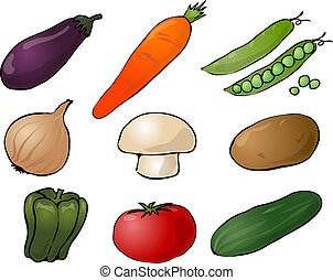 Vegetables illustration - Illustration of vegetables, hand-...