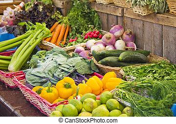 Vegetables in a market