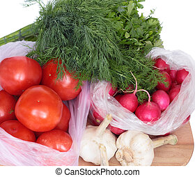 Vegetables in a package.