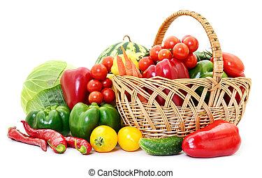 Vegetables in basket.