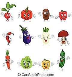 Vegetables in Characters