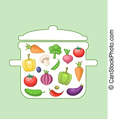Vegetables in the pan