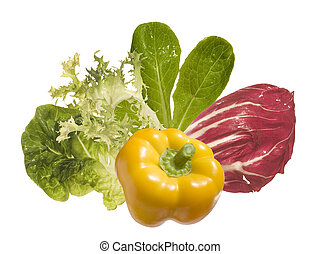 vegetables ingredients isolated