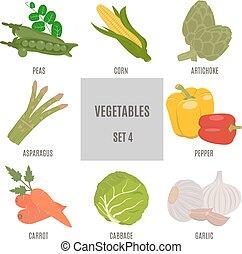 vegetables., jogo, 4